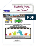 PRTESOL Bulletin from the Board