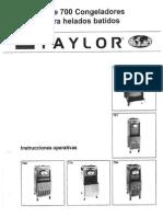 Manual Taylor Modelo 754