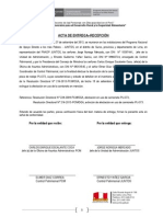 Acta de Entrega Recepción PIJ 373 a La PCM