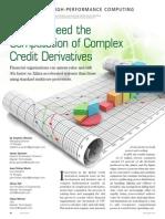 FPGAs Speed Computation Complex Credit Derivatives