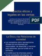 Aspectos Eticos y Legales en Las Ventas