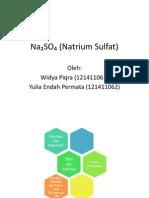 Na₂SO₄ (Natrium Sulfat) fix