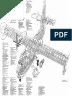 Canadair CL-415cutaway
