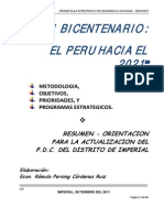 Plan 10604 Plan Bicentenario Resumen 2011
