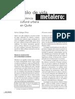 Al estilo de vida metalero.  Revista Íconos - FLACSO