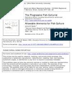 Allowable Ammonia for Fish Culture