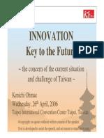 Innovation - Key to the Future _Kenichi Ohmae
