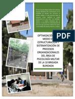 Optimización Por Medio de Estructuración y Sistematización de Procesos Organizacionales Del Área de Psicología Militar de La 10 Brigada Blindada