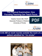 Focusing and Teaching Physical Examination 2