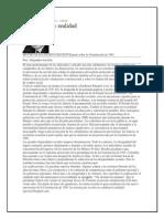 Alejandro Gaviria,Articulo Sobre La Constitucion