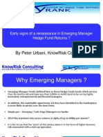 Early signs of a Renaissance in Emerging Manager Hedge Fund Returns?