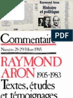 Aron, Raymond - Revue Commentaire Spécial Raymond Aron (1905-1983)