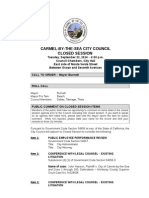 Closed Session Agenda & Continuance 09-23-14