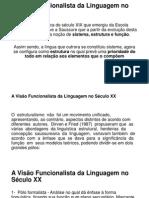 A Visão Funcionalista Da Linguagem No Século XX