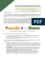 Análisis de Las Ventajas e Inconvenientes de Un LMS Como Moodle y Un SLE Como RedAlumnos.
