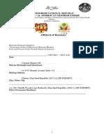 Affidavit of Residency
