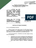 (SEC-DASURECO) ERC Notice of Public Hearing d 8.22.14URECO) ERC Notice of Public Hearing d 8.22.14