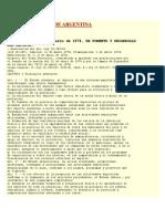 Ley Del Deporte de Argentina