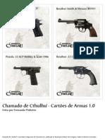 Chamado de Cthulhu - Cartões de Armas