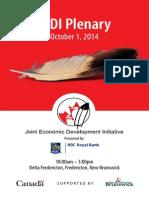 October 1st, 2014 JEDI Plenary Program