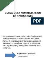 Etapas de La Administarcion de Operaciones