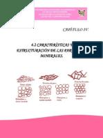 4.2 Características y Estructuración de Las Partículas Minerales