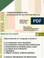 01. Conceptos Basicos Para La Evaluacion de Politicas Publicas