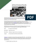 Sejarah Proses Perumusan Pancasila