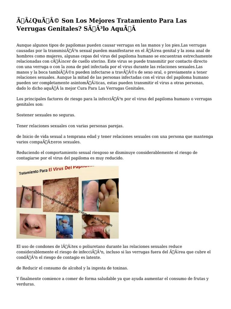 Papiloma humano tratamiento verrugas