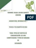 Investigación de Tipos de Puertos y Ranuras