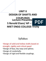 DME Unit 2 Design of Machine elements- Shaft Intro