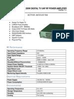 200Watt DVB Amplifier