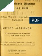 Discurso Alessandri Instrucción Primaria
