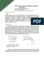 Alkaloid Erythrina dan Pterocarpan dari Kulit Kayu Erythrina subumbran