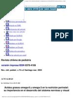 36_Revista chilena de pediatr+_a - +ücidos grasos omega-6 y omega-3 en la nutrici+_n perinatal_ su importancia en el desarrollo del sistema nervioso