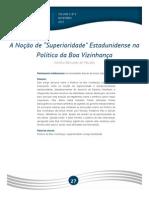 """A Noção de """"Superioridade"""" Estadunidense Na Política Da Boa Vizinhança"""