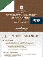 Nazarbayev University Sports Fees