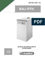 Fondital Bali RTN_Manual de Instalare Si Intretinere_ro