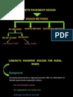 2.for Rural LOw Volume Traffic Rigid Pavement Design