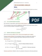 Tema 01 - Sistemas de Ecuaciones Lineales - Apuntes