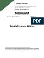 Centrally Sonsored Schemes