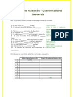 Adjectivos Numerais - Quantificadores Numerais - TLEBS