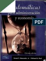 Matematicas Para Administracion y Economia