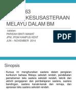 Bmm3116 Genre Kesusasteraan Melayu Dalam Bm- Slot Jbg