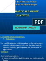 LA VARIABLE ALEATOIRE CONTINUE.ppt