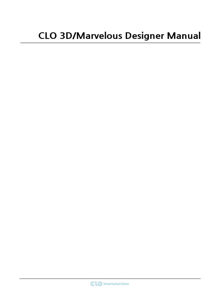 Clo 3dmarvelous Designer Manual Microsoft Windows Seam Sewing