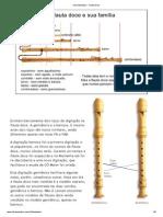 Cifra Melódica - Flauta Doce