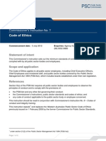 Public Sector Code of Ethics