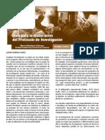 Guía la elaboración del protocolo de investigación