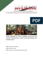Estudio de Lachrimae Pavan de John Dowland